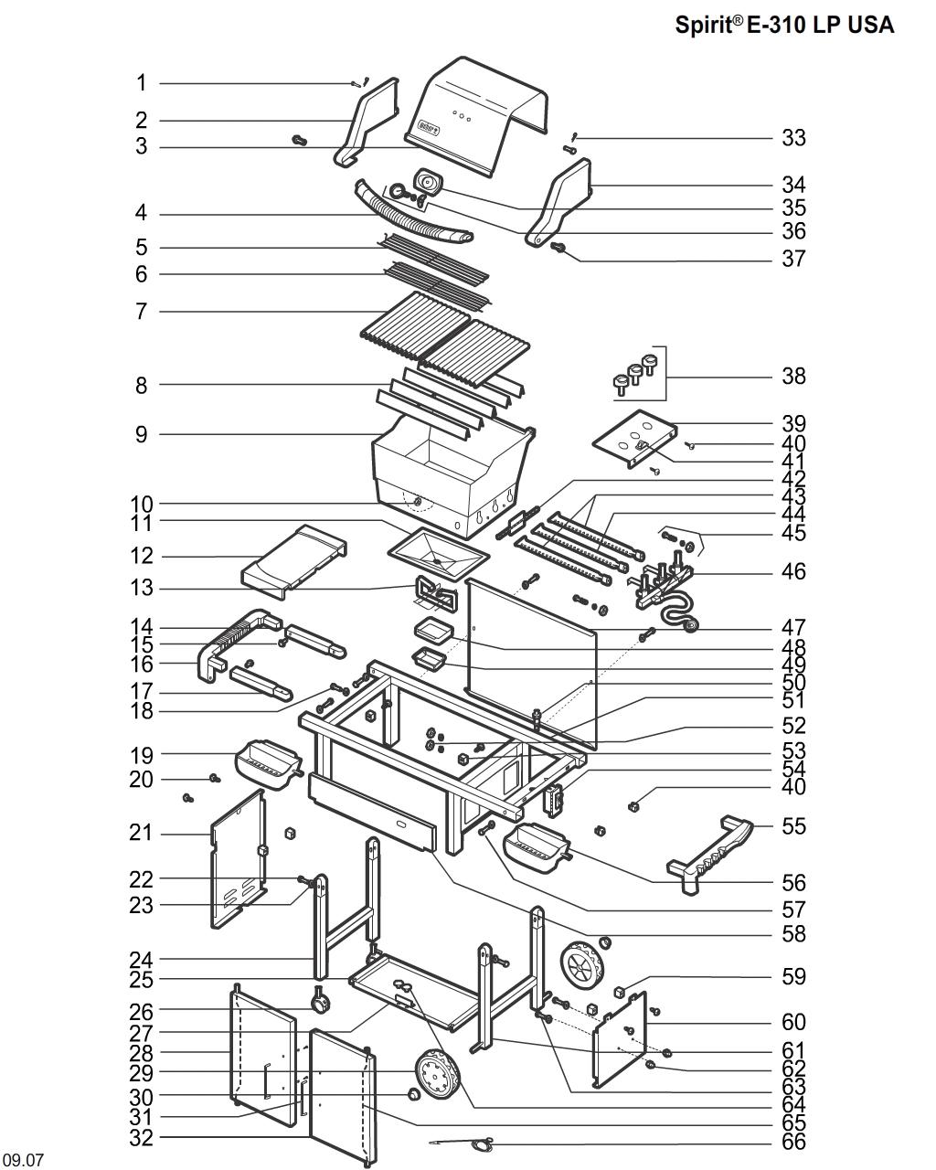 """Weber 69891 Hose /& Regulator QCC1 LP 17/"""""""