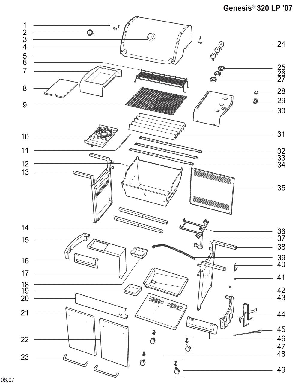 Weber Grill Schematics Weber Grill Models