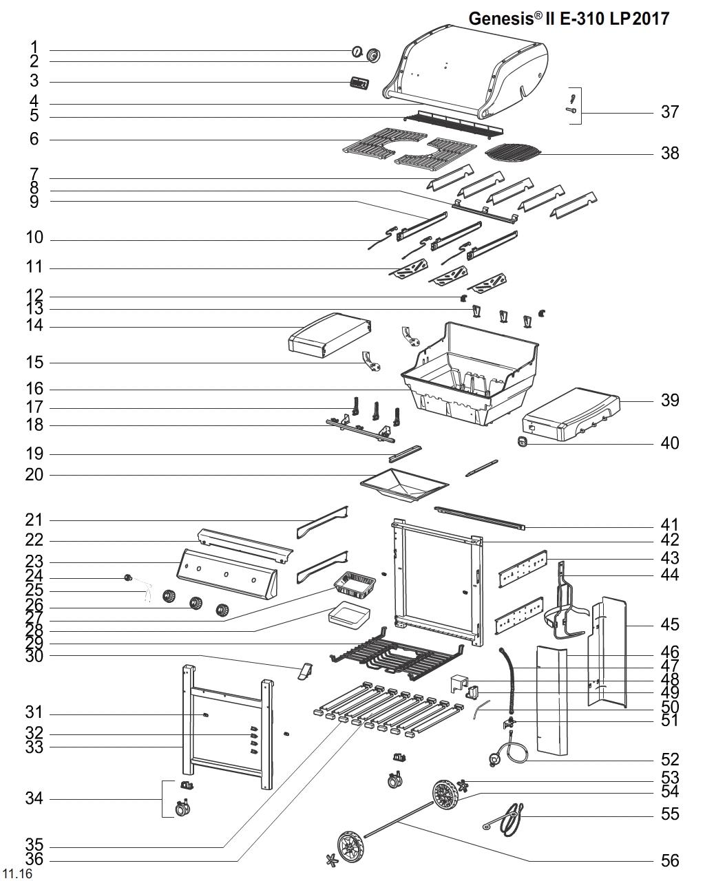 Weber Grill Schematics Models